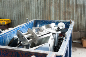 An image of scrap metal ready to be recycled
