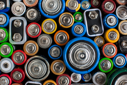 An image featuring many different types of batteries